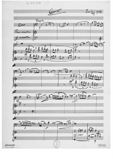 Concerto for Cello and Orchestra: Piano score by Ernst Levy