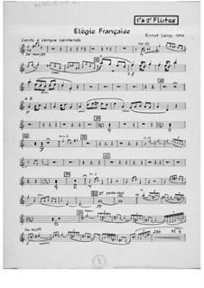 Symphony No.10 'France': Movement III 'Elégie française' – Parts by Ernst Levy