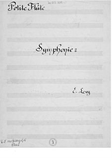 Symphony No.2: Parts by Ernst Levy