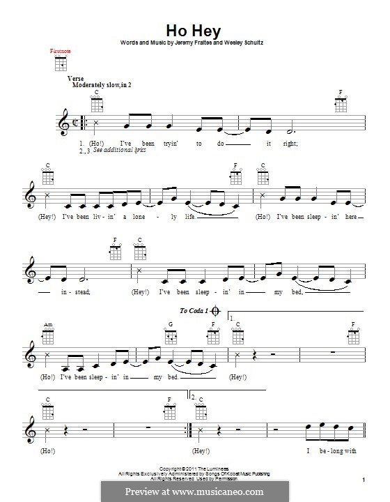 Perfect Ho Hey Piano Chords Mold - Song Chords Images - apa-montreal ...