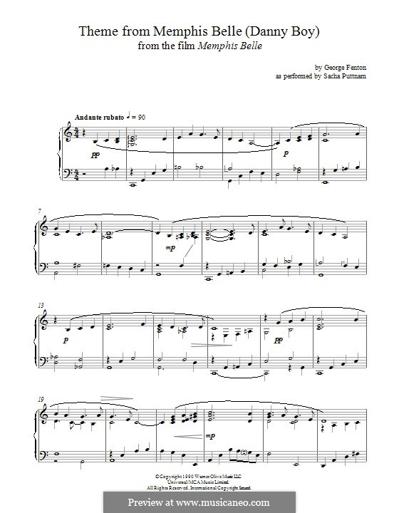 belle piano sheet music