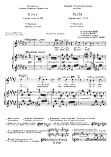 Night: For voice and piano (First edition) by Modest Mussorgsky