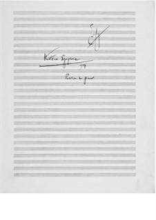 Symphony No.8 for Winds, Percussions and Piano: Piano score by Ernst Levy