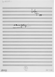 A Musical Gathering: Full score by Ernst Levy