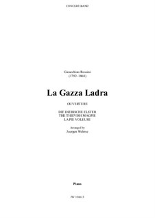 La gazza ladra (The Thieving Magpie): Overture, for concert band – part, JW 130613 by Gioacchino Rossini