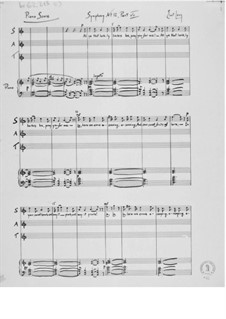 Symphony No.12 'Chamber Symphony': Piano score by Ernst Levy