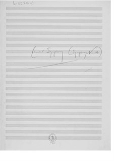 Symphony No.12 'Chamber Symphony': Composer's Sketches by Ernst Levy
