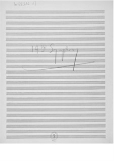 Symphony No.14: Composer's Sketches by Ernst Levy