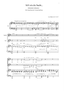 Songs, Op.326: No.27 Still as the Night by Carl Böhm