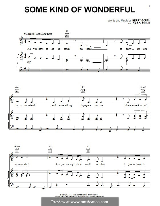 Some Kind of Wonderful (Toploader): For voice and piano (or guitar) by John Ellison