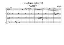 4 notes idea for improvisation: No.2, MVWV 798B by Maurice Verheul