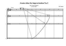 4 notes idea for improvisation: No.3, MVWV 798C by Maurice Verheul