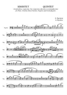 Quintet: Movement I – bassoon part by Alexander Bystrov