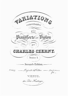 Variations Concertantes pour Pianoforte et Violon, Op.1: Variations Concertantes pour Pianoforte et Violon by Carl Czerny