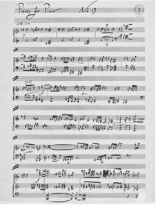 Piece for Piano No.13: Piece for Piano No.13 by Ernst Levy