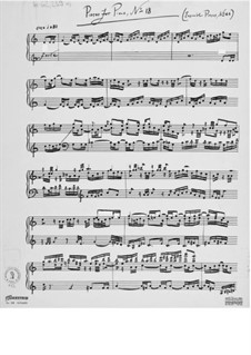 Piece for Piano No.18: Piece for Piano No.18 by Ernst Levy