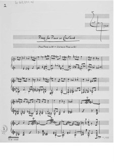 Piece for Piano or Clavichord No.20: For a single performer by Ernst Levy