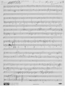 Piece for Piano or Clavichord No.20: Composer's Sketches by Ernst Levy