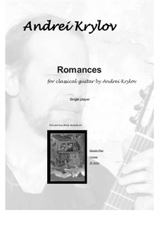 7 Romances for classical guitar. Two for violin and guitar: 7 Romances for classical guitar. Two for violin and guitar by Andrei Krylov