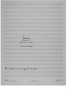 Pièce pour le nouvel an (1963) 'Jahrlied': Pièce pour le nouvel an (1963) 'Jahrlied' by Ernst Levy