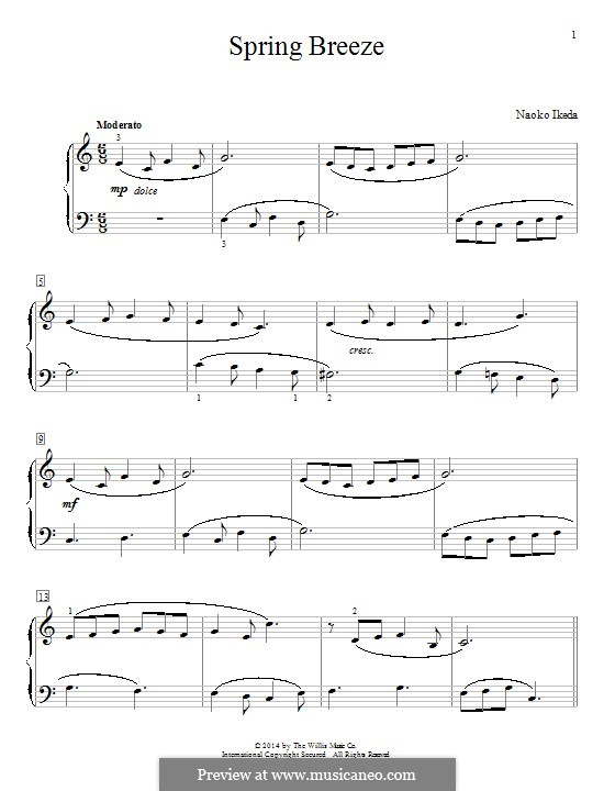 Spring Breeze: For piano by Naoko Ikeda