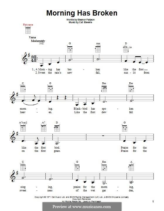 Morning Has Broken: For ukulele by Cat Stevens