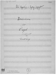 Prelude for Organ: Prelude for Organ by Ernst Levy