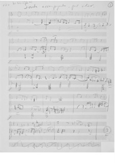 Sonata accompagnata for Violin and Piano: Composer's Sketches by Ernst Levy