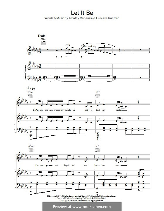 let it be piano accompaniment sheet music filetype pdf
