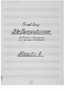 Symphony No.5 for Violin, Trumpet and Large Orchestra: Parts by Ernst Levy