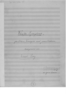 Symphony No.5 for Violin, Trumpet and Large Orchestra: Piano score by Ernst Levy