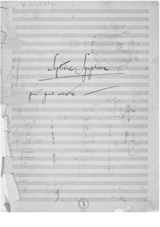 Symphony No.7: Composer's Sketches by Ernst Levy