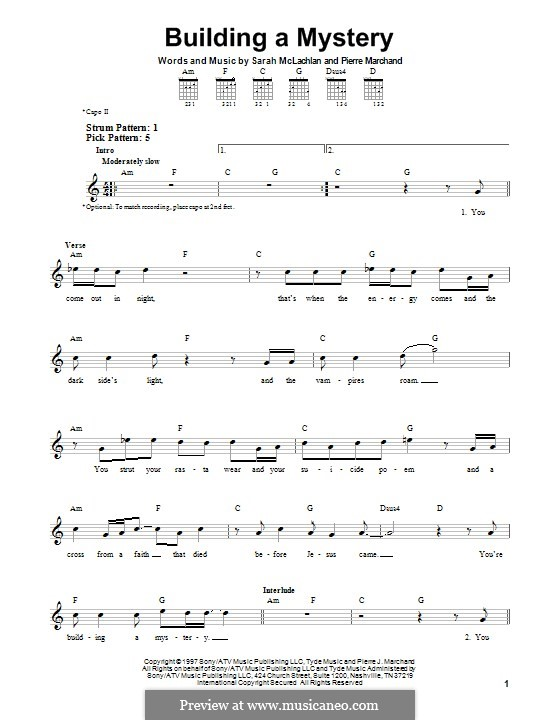Building a Mystery: For guitar by Pierre Marchand