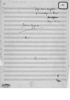 Symphony No.10 'France': Sketches of Version for Piano Four Hands by Ernst Levy