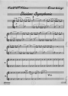 Symphony No.10 'France': Parts by Ernst Levy