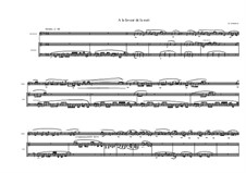 Jazz piece for Bassclarinet and Marimba 'A la faveur de la nuit' No.3, MVWV 329B: Jazz piece for Bassclarinet and Marimba 'A la faveur de la nuit' No.3 by Maurice Verheul