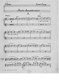 Suite for Orchestra No.1: Parts by Ernst Levy