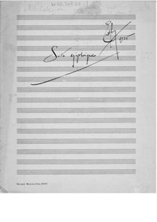 Suite for Orchestra No.1: Composer's Sketches by Ernst Levy