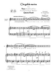 Che gelida manina: For tenor and piano, CSPG10 by Giacomo Puccini