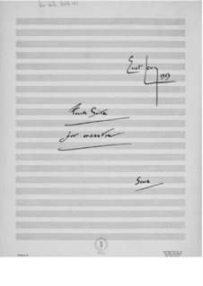 Suite for Orchestra No.4: Full score by Ernst Levy