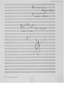 Quatre pièces faciles pour être jouées à deux et à trois: Full score by Ernst Levy