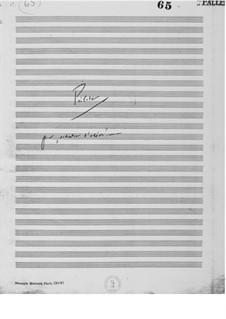 Prélude pour 'Orchestre d'Odeon': Full Score by Ernst Levy