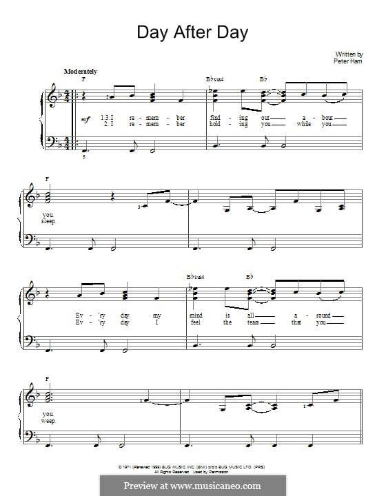Day After Day (Badfinger): For piano by Peter Ham