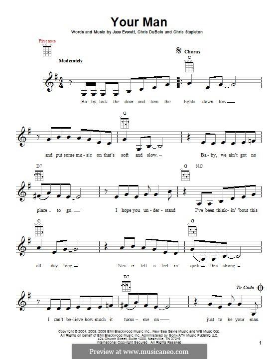 Your Man: For ukulele by Chris DuBois, Chris Stapleton, Jace Everett