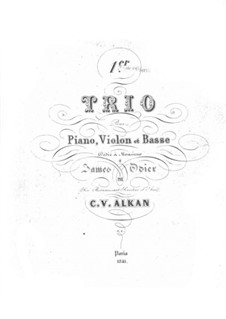 Piano Trio, Op.30: Piano Trio by Charles-Valentin Alkan