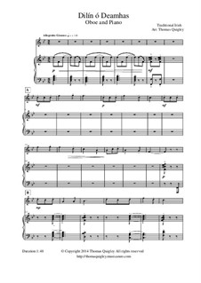 Dilín ó Deamhas: For oboe and piano by folklore