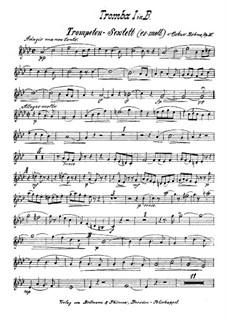Brass Sextet in E Flat Minor, Op.30: Trumpet I part by Oskar Böhme