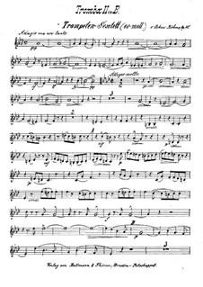 Brass Sextet in E Flat Minor, Op.30: Trumpet II part by Oskar Böhme