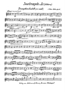 Brass Sextet in E Flat Minor, Op.30: Bass trumpet or alto horn part by Oskar Böhme