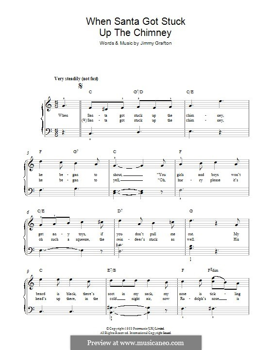 When Santa Got Stuck Up the Chimney: For piano by Jimmy Grafton